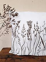 Úžitkový textil - Vankúš hnedé trávy - 11645578_