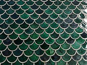 Dekorácie - Obkladačky Rybie šupiny - malé - 11647316_