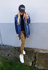 Nohavice - Popísané khaki dámske legíny - 11646803_
