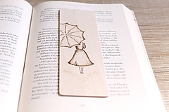"""Papiernictvo - Drevená záložka do knihy """"Daždivý deň"""" - 11645036_"""