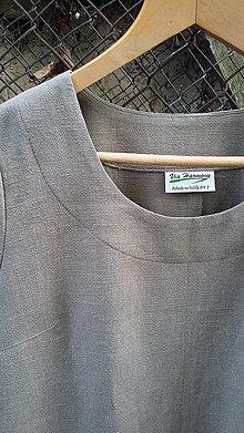 Šaty - Ľanové šaty - khaki - 11646902_