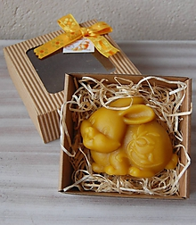 Dekorácie - Veľkonočná krabička (zajačik) - 11645149_