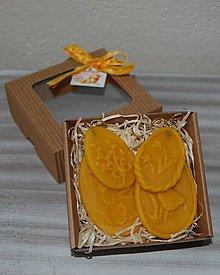 Dekorácie - Veľkonočná krabička (4 vajíčka - ozdoby) - 11645174_