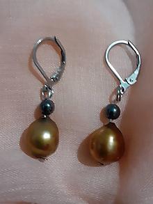 Náušnice - náušnice z riečnych perál - 11644241_