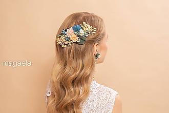 """Ozdoby do vlasov - Kvetinový hrebienok """"čo nás čaká"""" - 11645047_"""