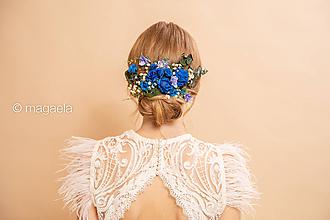 """Ozdoby do vlasov - Kvetinový hrebienok """"bozky pod nebom"""" - 11645480_"""