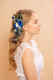 """Ozdoby do vlasov - Kvetinový hrebienok """"napísané atramentom"""" - 11646054_"""