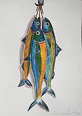 Obrazy - Ryby akvarelový obraz - 11644668_