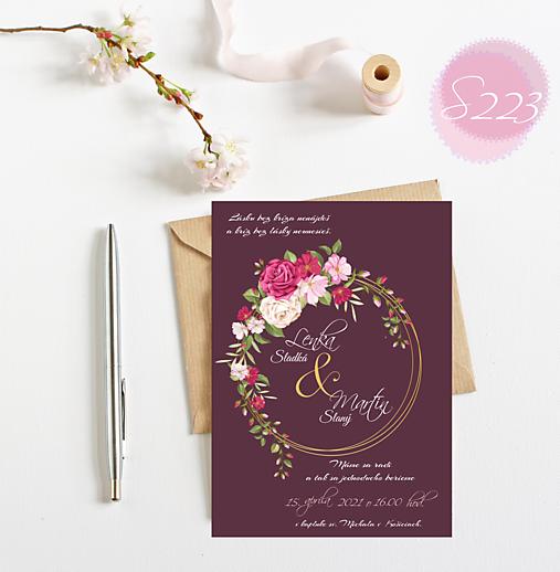 svadobné oznámenie S223