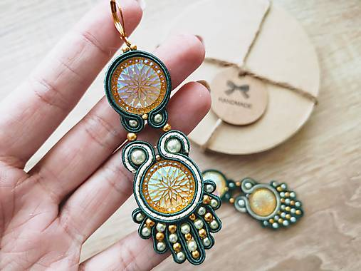 TAJOMSTVO handmade soutache náušnice - autorské šperkyLEKIDA