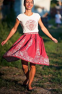 Sukne - červená suknička - 11645534_