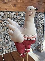 Dekorácie - sliepočky červené gaťky - 11644315_