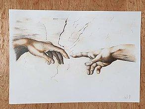 Kresby - Kresba- Ruky alebo Stvorenie Adama - 11648180_