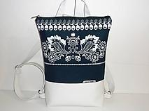 Batohy - folkový batoh v bielom - 11647120_