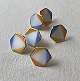 Náušnice - Hexagon. - 11647641_