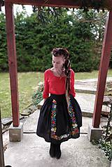Sukne - Maľovaná sukňa s topom - 11645462_