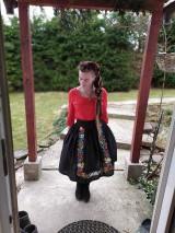 Sukne - Maľovaná sukňa s topom - 11645469_
