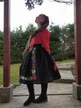Sukne - Maľovaná sukňa s topom - 11645479_