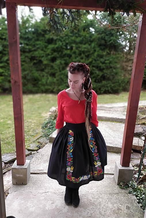 Maľovaná sukňa s topom