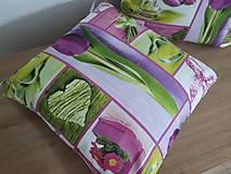 Úžitkový textil - Tulipány,primulky,srdiečka - 11648849_
