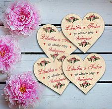 Darčeky pre svadobčanov - Svadobná magnetka - 11650296_