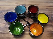 Nádoby - Farebné mini šálky na mini kávu - 11651838_