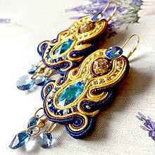 Náušnice - Fantasy Soutache Earrings / Výrazné náušnice - sutašky - 11649219_