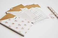 Papiernictvo - Ružové mini zápisníčky/bločky (Čistý A) - 11649500_