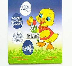 Pomôcky/Nástroje - Zmršťovacie košieľky na vajíčka, 12 ks  (folklórne bielo-modré) - 11650205_