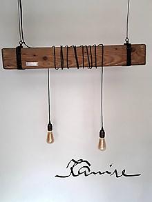 Svietidlá a sviečky - Svietidlo Wood & Steel - 9935513_