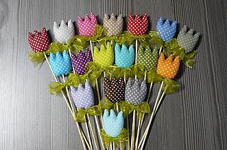 Dekorácie - Pestrofarebné tulipány - 11649110_