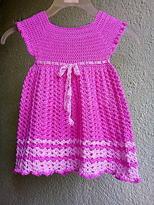 Detské oblečenie - Detské háčkované šaty - 11648649_