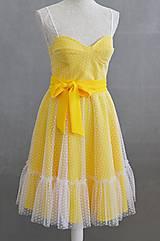 Šaty - Letné bodkové šaty na viazanie - 11650219_