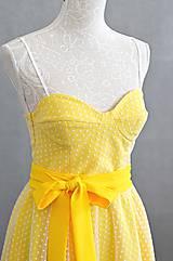 Šaty - Letné bodkové šaty na viazanie - 11650222_