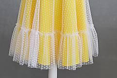 Šaty - Letné bodkové šaty na viazanie - 11650223_