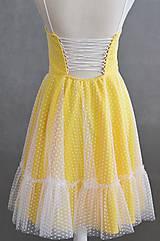 Šaty - Letné bodkové šaty na viazanie - 11650232_