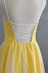 Šaty - Letné bodkové šaty na viazanie - 11650235_