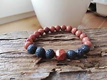 Náramky - Slnečný kameň,láva - 11651454_