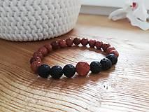 Náramky - Slnečný kameň,láva - 11651456_