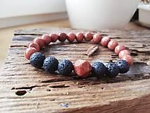 Náramky - Slnečný kameň,láva - 11651458_