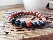 Náramky - Slnečný kameň,láva - 11651459_
