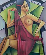 Obrazy - AKT , kubismus - 11651414_