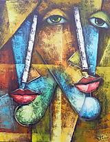 Obrazy - DUO, kubismus - 11651445_