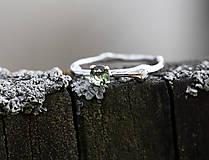Prstene - Vetvička s vltavínom v bielom zlate - 11650616_
