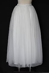 Sukne - Veľká tylová sukňa z kvalitného bodkovaného tylu - 11650104_