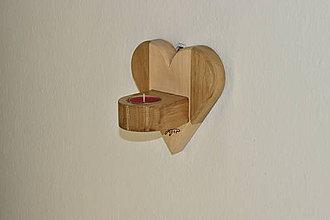 Svietidlá a sviečky - Svietnik Heart wall - 11651044_