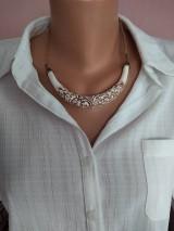 Náhrdelníky - Biely náhrdelník - 11650640_