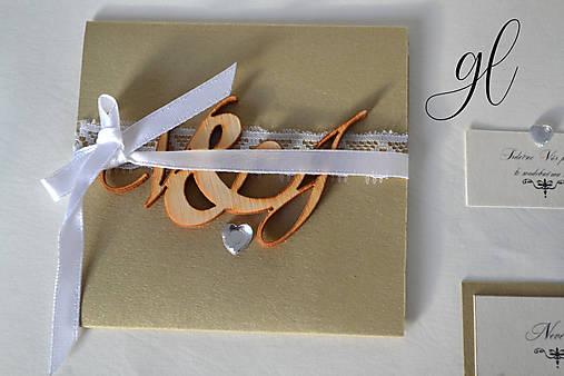Svadobné tlačoviny čipka (Svadobné oznámenie)
