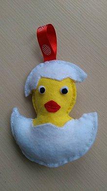 Dekorácie - Kuriatko vo vajíčku - 11650252_