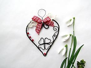 Dekorácie - tepané srdce* 10 cm - 11650638_